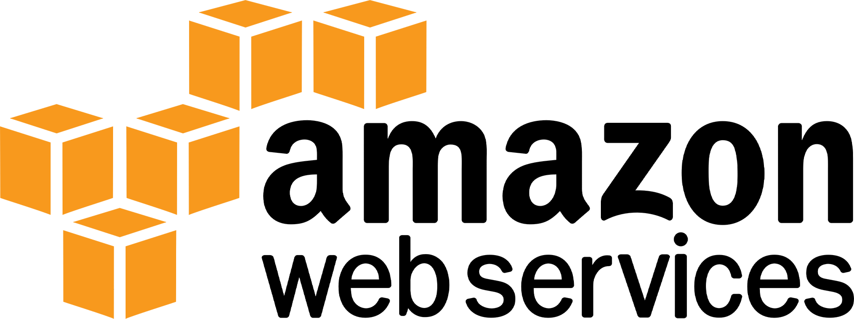 Amazon Web Services Logo pictured - large and colors shown