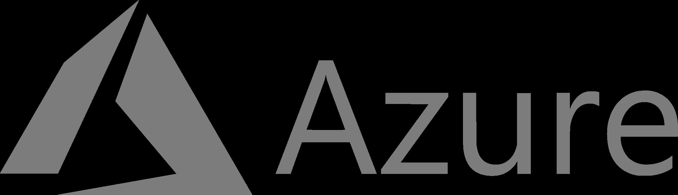 Microsoft Azure logo large - black and white