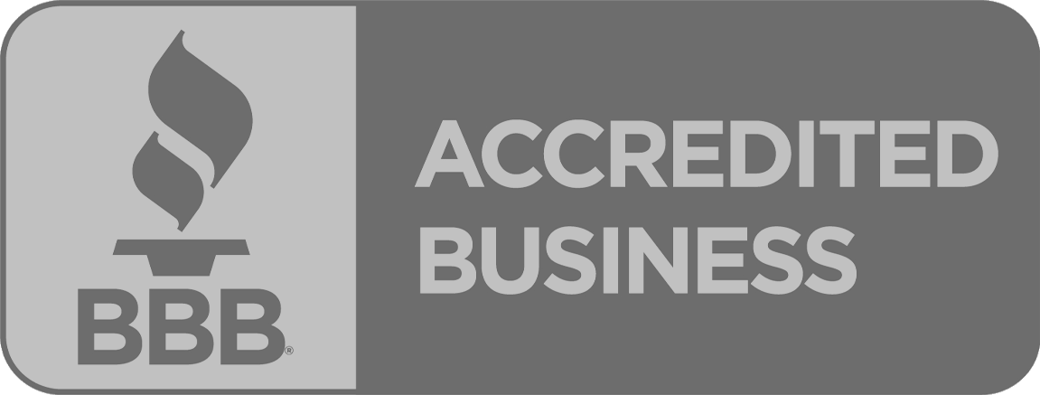 BBB Accredited Business logo - shown in black and white