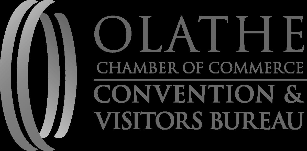 Olathe chamber of commerce logo - large, black and white