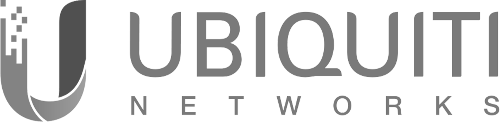 Ubiquiti Networks logo shown in black and white